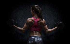 Картинка pose, female, workout, bodybuilding