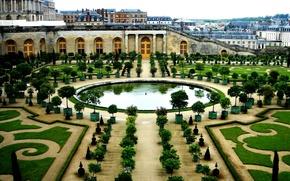 Картинка Франция, здания, сад, архитектура, Версаль