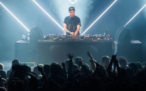 Обои people, neon, dancing, eletronic music, disc jockey, DJ