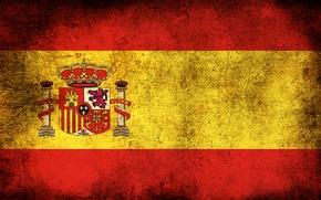 Обои флаг, испания, грязь