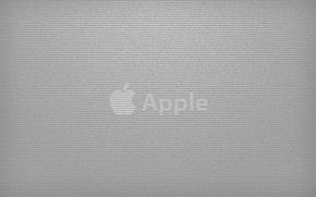Обои надписи, серый, Apple
