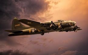 Картинка оружие, самолёт, Boeing B-17G