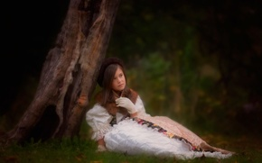 Картинка лес, дерево, девочка, danielle waage