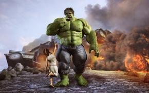 Картинка халк, девочька, Hulky