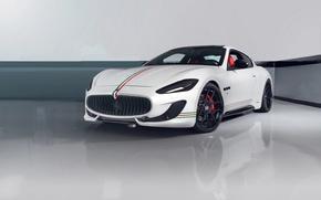 Картинка Maserati, Turismo, White, Matte, Gran, Wheels, Strasse