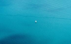 Обои море, лодка, парус