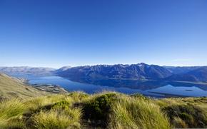 Обои горы, природа, озеро, Новая Зеландия, New Zealand, Lake Wakatipu