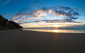 Обои берег, пляж, песок, море, вода, океан, небо, пейзаж
