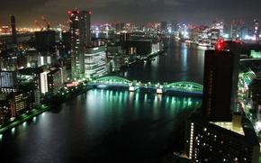 Картинка ночь, город, панорама, tokyo