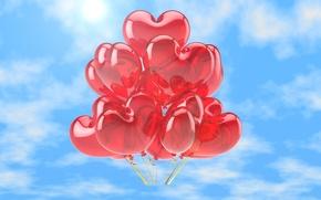 Картинка Природа, Сердце, Шарик, Воздушный