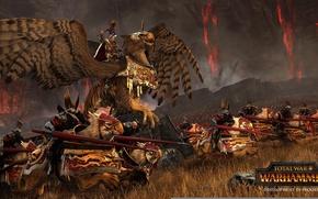 Картинка фэнтези, битва, fantasy, сражение, warhammer, всадники, грифон, total war, стратегия, вархаммер, strategy, тотальная война, creative …