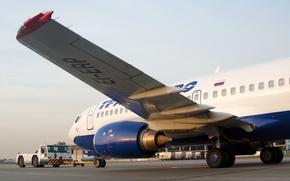 Картинка крылья, турбина, аэропорт, Boeing, самолёт, Боинг, пассажирский, Трансаэро, B-737, 33S