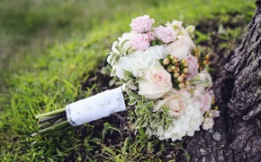Картинка розы, букет, свадебный
