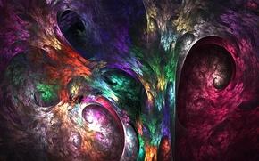 Обои текстура, фрактал, узор, краски