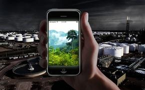 Обои картинка, телефон, производство