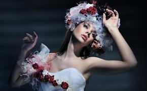Картинка взгляд, девушка, стиль, модель, Konrad Bak