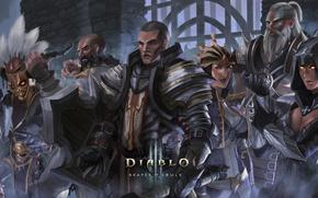 Картинка diablo 3, Demon Hunter, Witch Doctor, Barbarian, Wizard, Monk, Crusader