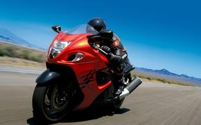Обои дорога, скорость, мотоцикл