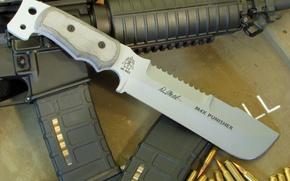 Обои пули, нож, USA, автомат