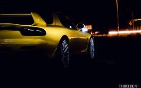 Картинка машина, авто, купе, Мазда, фонарь, Mazda, спойлер, auto, RX-7, RX7