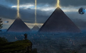 Картинка art, painting, concept art, ancient, Pyramid