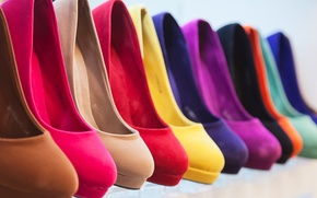 Картинка color, heels, different color, same model