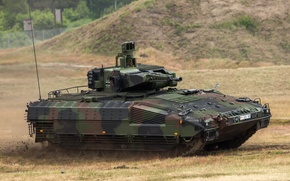 Картинка бронированная, полигон, пехоты, германская, боевая, машина, Schützenpanzer, Пума