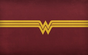 Обои logo, Diana, Justice League, Diana Prince, yellow, DC Comics, cinema, film, W, horsewoman, Princess Diana ...