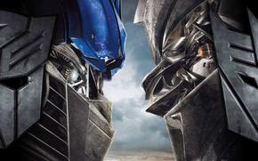 Обои megatron, transformers, optimus prime