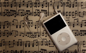 Картинка iPod, music, musical notes