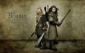 Обои фильм, the Hobbit An Unexpected Journey, воины, хоббит