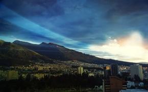 Картинка свет, здания, утро