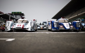 Картинка Audi, прототип, Toyota, Le Mans 24 2013