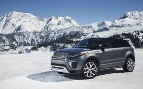 Обои wallpapers, Evoque, snow, снег, горы, Land Rover, Range Rover, Autobiography, car, авто