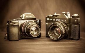 Картинка камеры, Sony A7, Zenit 12 XP