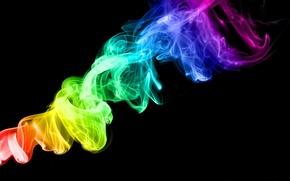 Обои Радуга, Радужный цвет, Цвета, Дым