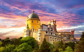 Обои pena palace, sintra, castle, portugal