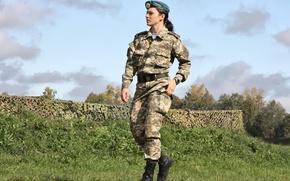Обои девушка, фон, widescreen, обои, солдат, wallpaper, форма, широкоформатные, background, полноэкранные, HD wallpapers, десантник, широкоэкранные, fullscreen