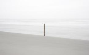 Картинка море, берег, палка