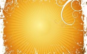 Обои лето, Солнце, желтый, минимализм