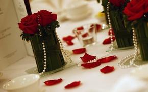 Картинка украшения, розы, жемчуг, бусы, декор