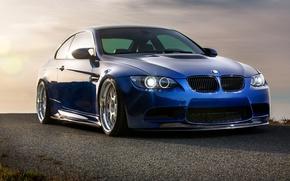 Картинка синий, бмв, BMW, blue, E92