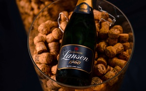 Картинка champagne, Lanson, corks