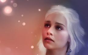Обои Targaryen, живопись, игра престолов, game of thrones, art, рисунок, красивая, девушка, красиво, кхалиси, Таргариен, Песнь ...