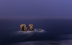 Картинка море, скалы, вечер