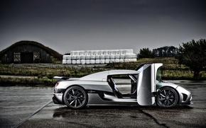 Картинка авто, тучи, Koenigsegg, суперкар, Agera, кёнигсег, autowalls