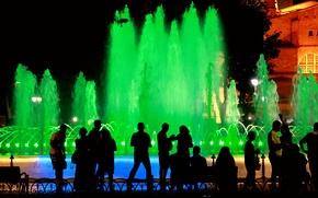 Картинка ночь, фонтан, Стамбул, Турция, night, Istanbul, Turkey, fountain