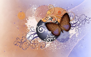 Картинка абстракция, узор, бабочка, крылья