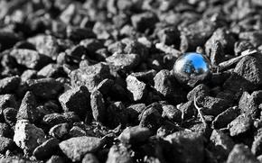 Картинка отражение, камни, шар