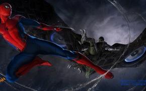 Обои Marvel, Spider-man, Vulture, concept-art, Человек Паук, Стервятник, Spider-man homecoming